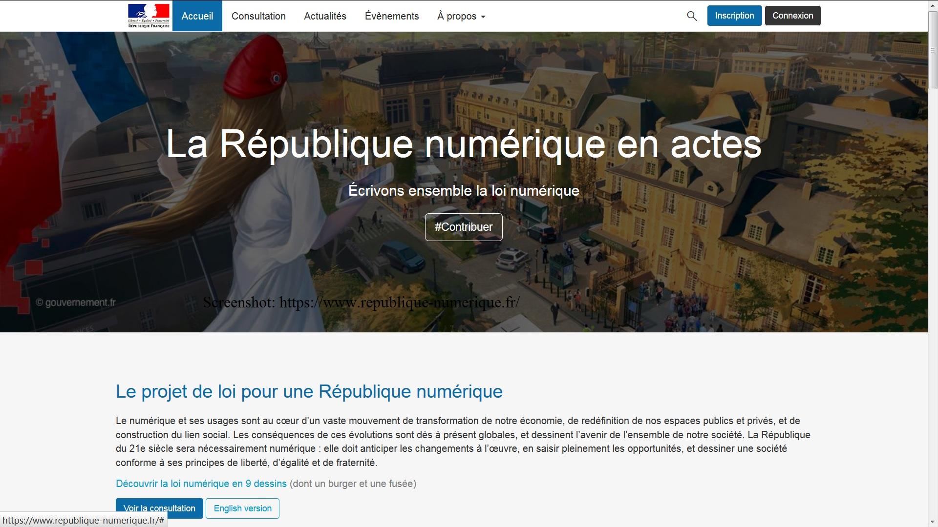 https://www.republique-numerique.fr/
