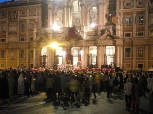 Fronleichnamszeremonie vor Santa Maria Maggiore, 4.6.2015. Foto: Wolfgang Schmale