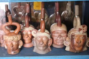 Moche-Keramik, Larco-Museum Lima; Foto: Katrin Keller, 8.8.2015