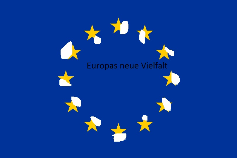 """Flag of Europe"" von User:Verdy p, User:-xfi-, User:Paddu, User:Nightstallion, User:Funakoshi, User:Jeltz, User:Dbenbenn, User:Zscout370 - File created by various Wikimedia users (see ""Author"").File based on the specification given at [1].. Lizenziert unter Gemeinfrei über Wikimedia Commons - https://commons.wikimedia.org/wiki/File:Flag_of_Europe.svg#/media/File:Flag_of_Europe.svg"