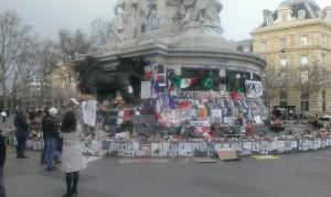 Paris, Place de la République; Foto: Wolfgang Schmale, 3.2.2016