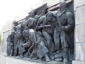 Teilansicht (Sockel) des Denkmals für die Sowjetarmee, Sofia. Foto: Wolfgang Schmale