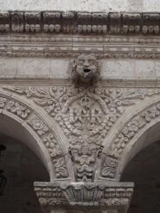 Arequipa Motive Kreuzgang der Jesuitenkirche