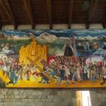 Chacas Kirche Gemälde mit Porträts von Padre Ugo de Censi und anderen