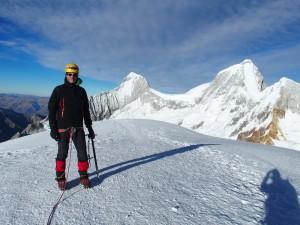 Pisco auf dem Gipfel