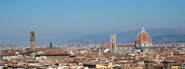 Blick auf Florenz von dem Piazzale Michelangelo