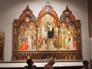 Rosello di Jacopo Franchi Krönung Mariae 1422 Galleria dell'Academia