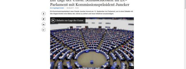 Screenshot SOTEU - Rede zur Lage der Union