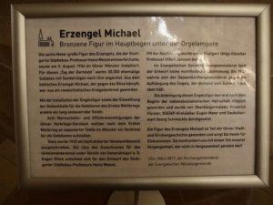 Ulmer Münster, kritischer Erläuterungstext zum Erzengel Michael
