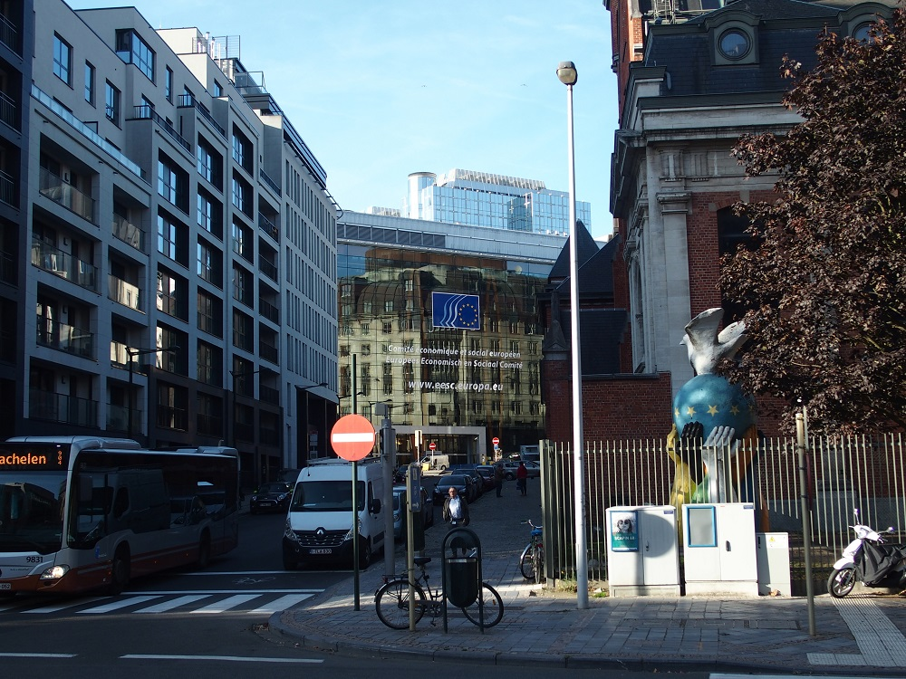 Brüssel, Europaviertel; Foto: Wolfgang Schmale