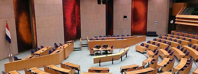Plenarsaal niederländisches Parlament; Foto: Wolfgang Schmale
