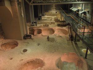 Antike römische Kelterei und Weinhandlung, Ausgrabungen - stadtgeschichtliches Museum Barcelona; Foto: Wolfgang Schmale